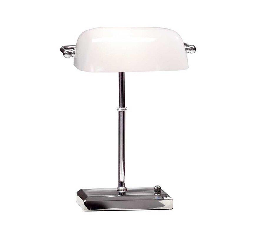 Tafellamp Bankers - Chroom/Wit