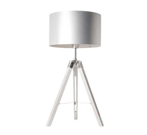 Artdelight Tafellamp Jewel - Wit/Chroom