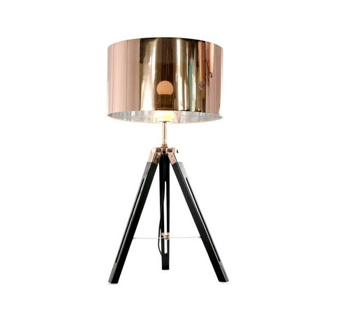 Artdelight Tafellamp Jewel - Zwart/Koper