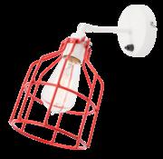 Het Lichtlab Wandlamp No.15 - Wit met Rode Kooi