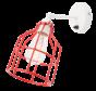Wandlamp No.15 - Wit met Rode Kooi