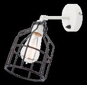 Het Lichtlab Wandlamp No.15 - Wit met Zwarte Kooi