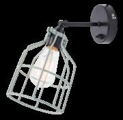 Het Lichtlab Wandlamp No.15 - Zwart met Mint kleur Kooi