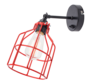 Wandlamp No.15 - Zwart met Rode Kooi