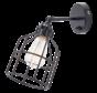 Wandlamp No.15 - Zwart met Zwarte Kooi