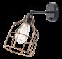 Wandlamp No.15 - Zwart met Bronzen Kooi