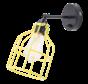 Wandlamp No.15 - Zwart met Gele Kooi