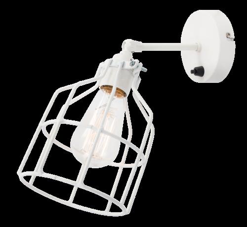 Het Lichtlab Wandlamp No.15 - Wit met Witte Kooi