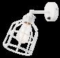 Wandlamp No.15 - Wit met Witte Kooi
