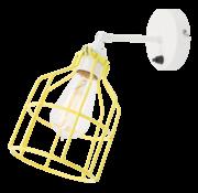 Het Lichtlab Wandlamp No.15 - Wit met Gele Kooi