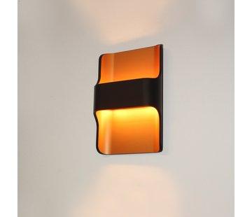 Artdelight Wandlamp Dallas - Zwart/Goud
