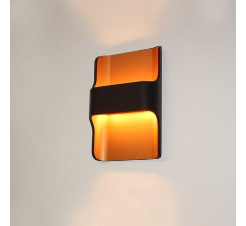 Artdelight Wandlamp Dallas - ZwartGoud