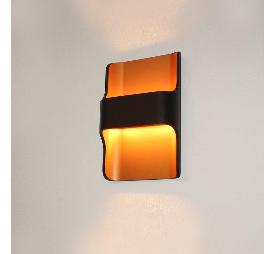 Wandlamp Dallas - ZwartGoud