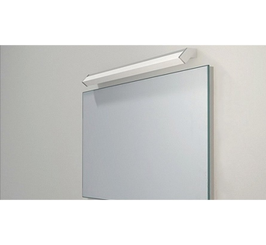 Wandlamp Mirror 88 - Mat Staal