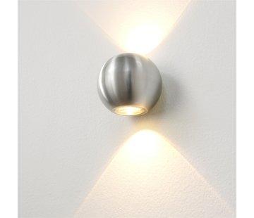 Artdelight Wandlamp Denver - Aluminium