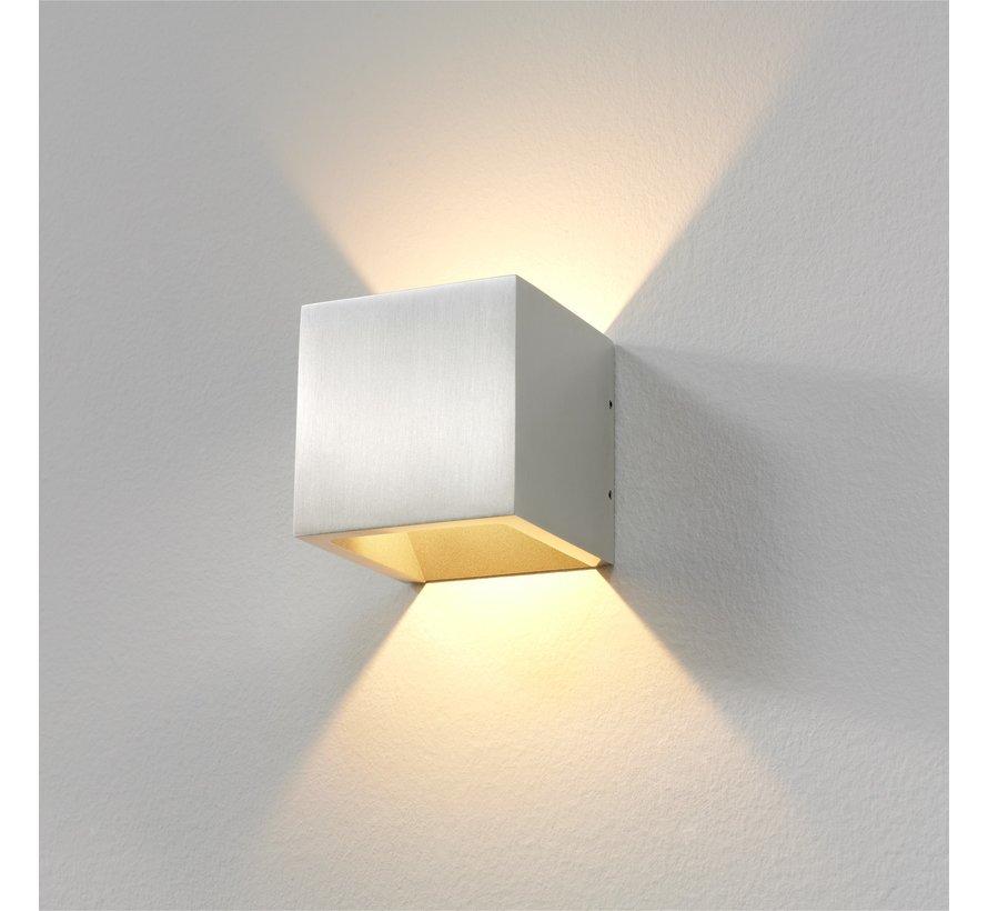 Wandlamp Cube - Aluminium