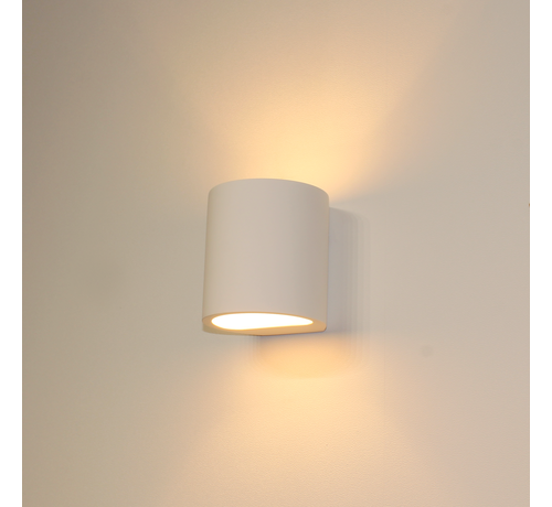 Artdelight Wandlamp Plaster Rond - Wit
