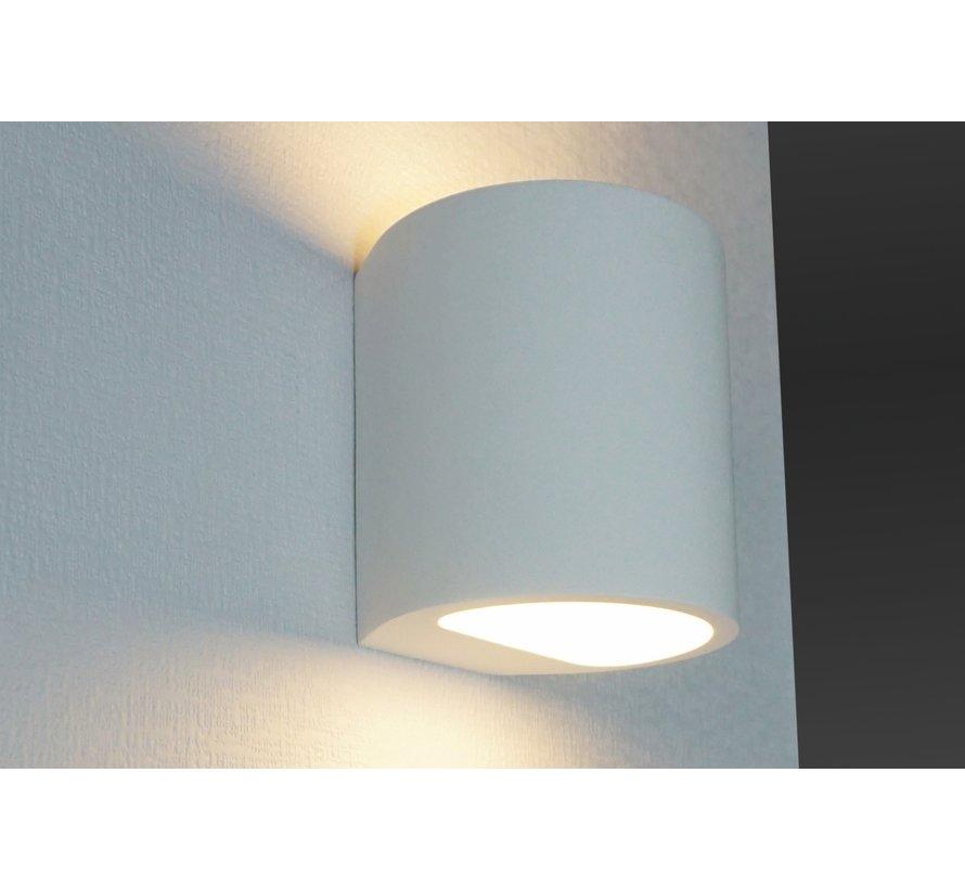 Wandlamp Plaster Rond - Wit
