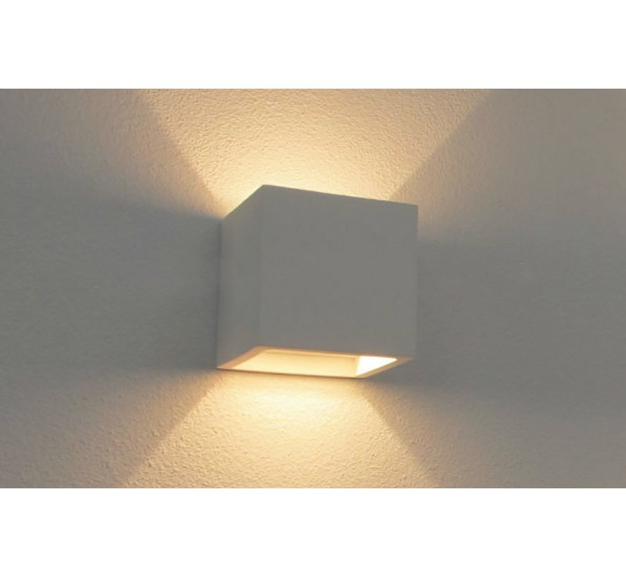 Wandlamp Plaster Vierkant - Wit