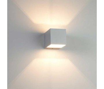Artdelight Wandlamp Recta - Mat Staal