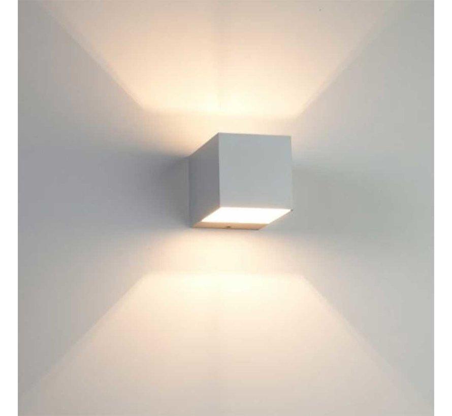 Wandlamp Recta - Mat Staal