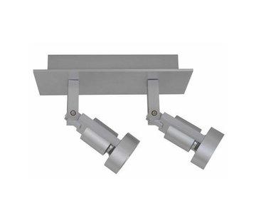 Artdelight Plafondlamp Tech 2L - Aluminium