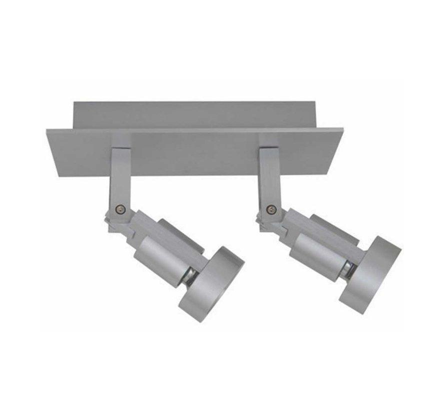 Plafondlamp Tech 2L - Aluminium