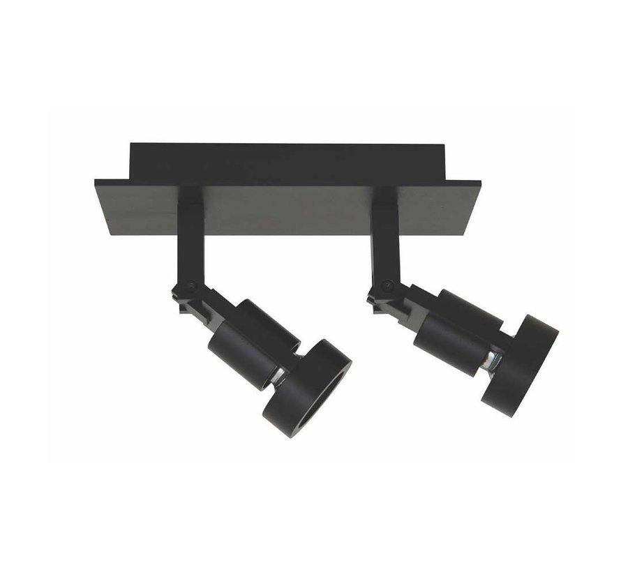 Plafondlamp Tech 2L - Zwart