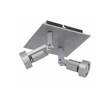 Artdelight Plafondlamp Tech 2L SQ - Aluminium