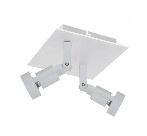 Artdelight Plafondlamp Tech 2L SQ - Wit