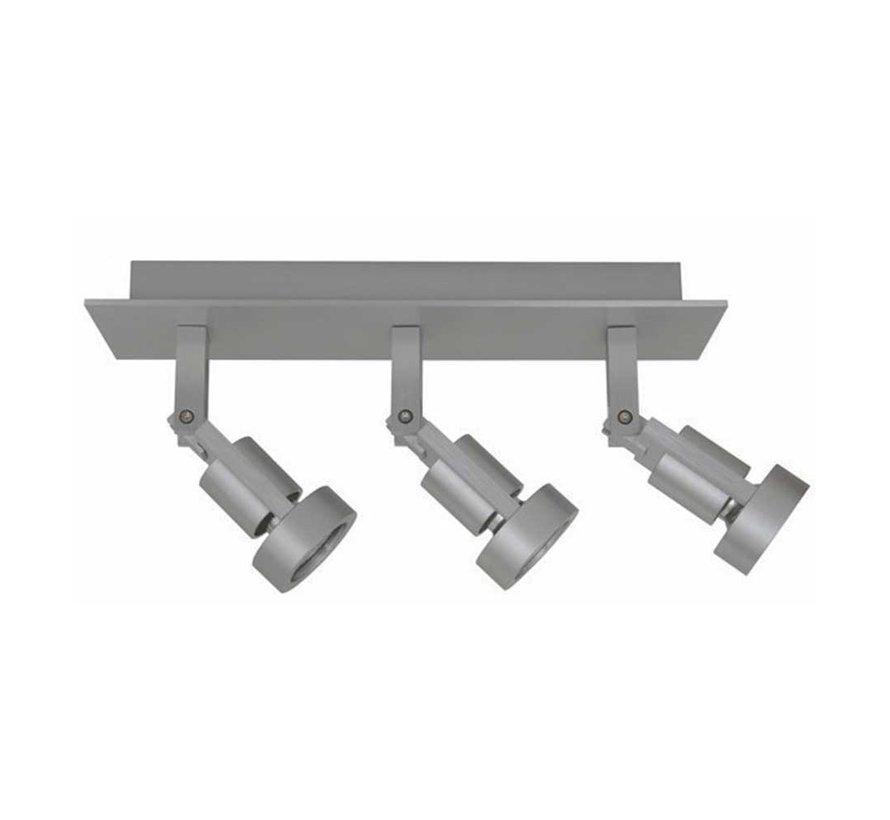 Plafondlamp Tech 3L - Aluminium