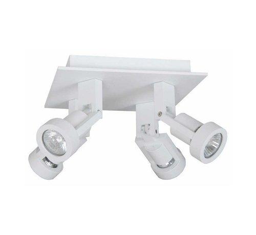 Artdelight Plafondlamp Tech 4L - Wit