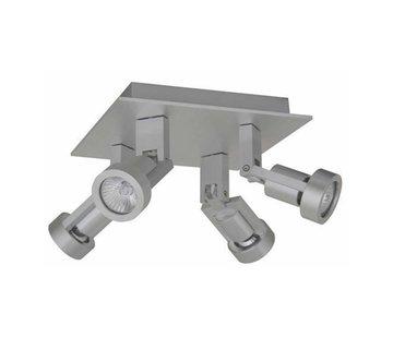 Artdelight Plafondlamp Tech 4L - Aluminium