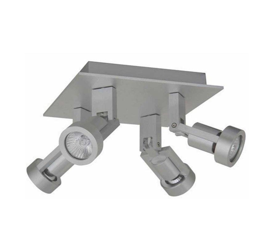 Plafondlamp Tech 4L - Aluminium