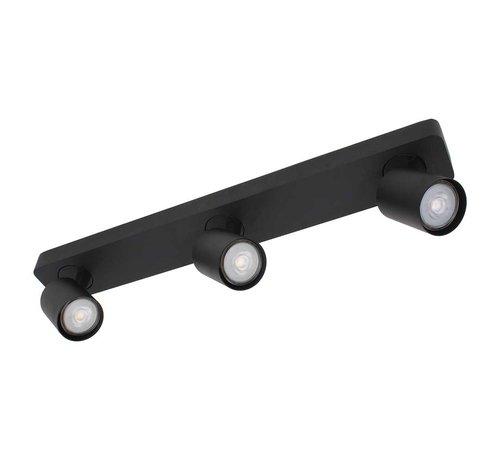 Artdelight Plafondlamp Vivaro 3L - Zwart