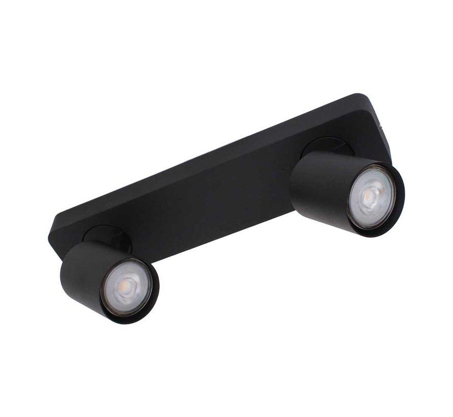 Plafondlamp Vivaro 2L - Zwart