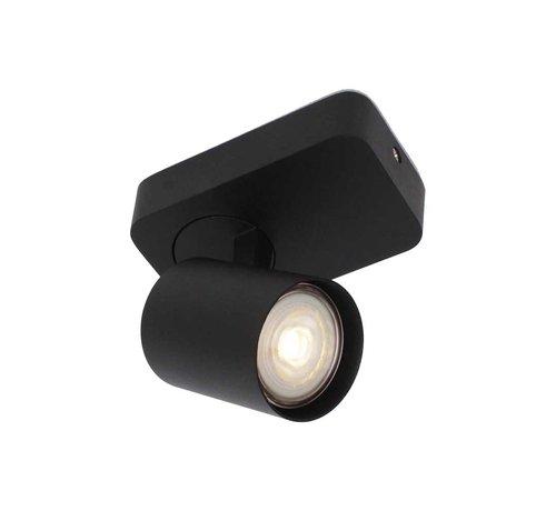Artdelight Plafondlamp Vivaro 1L - Zwart