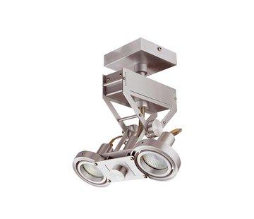 Artdelight Plafondlamp Köln 2L Led - Aluminium