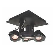 Artdelight Plafondlamp Meist 4L - Zwart
