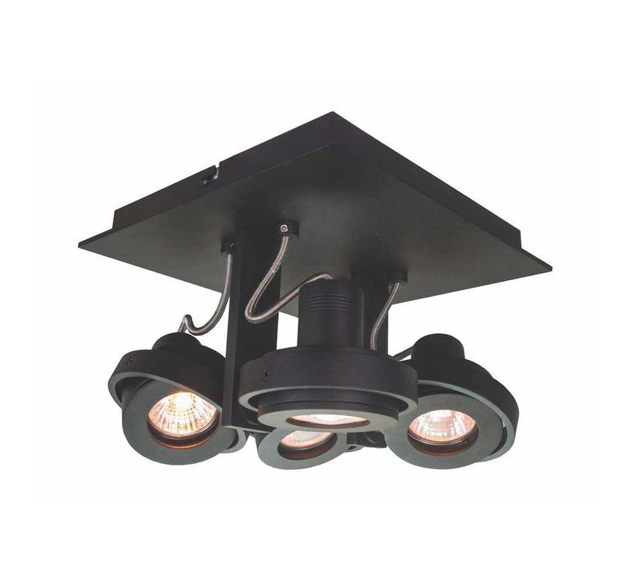Plafondlamp Meist 4L - Zwart