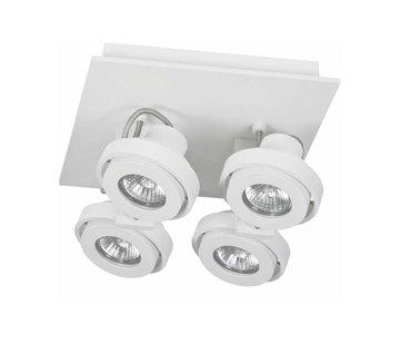 Artdelight Plafondlamp Meist 4L - Wit