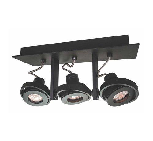Artdelight Plafondlamp Meist 3L - Zwart