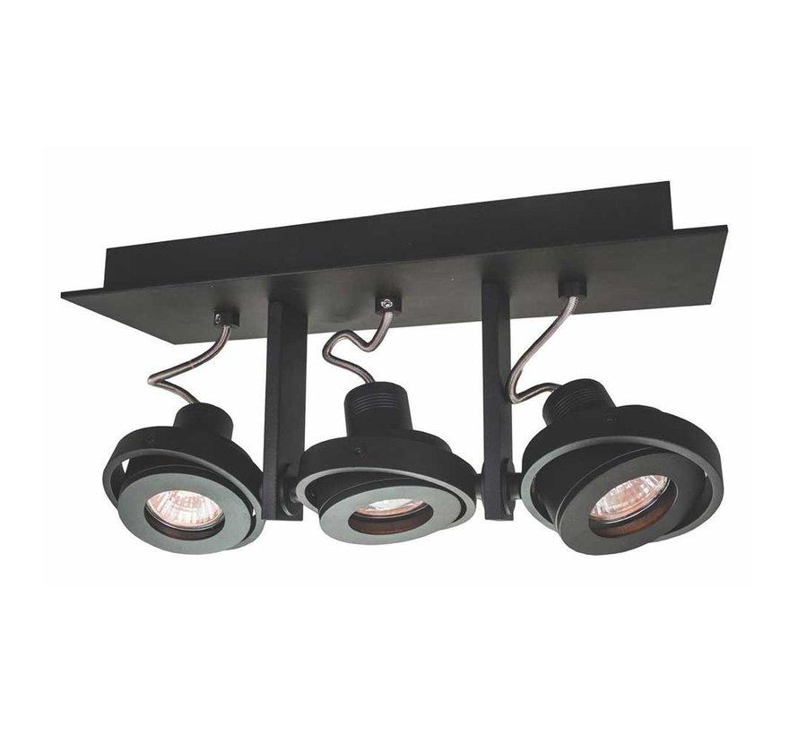 Plafondlamp Meist 3L - Zwart