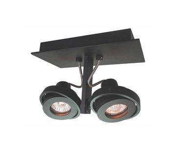 Artdelight Plafondlamp Meist 2L - Zwart