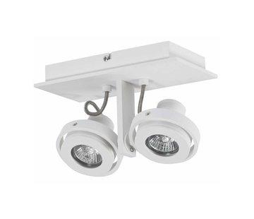 Artdelight Plafondlamp Meist 2L - Wit