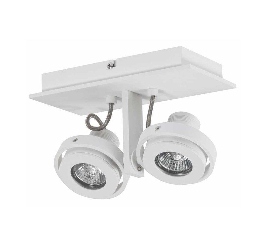 Plafondlamp Meist 2L - Wit