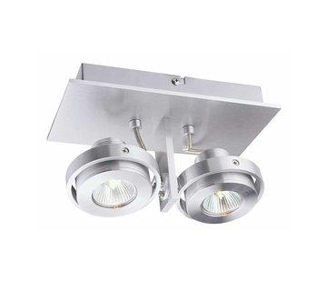 Artdelight Plafondlamp Meist 2L - Aluminium