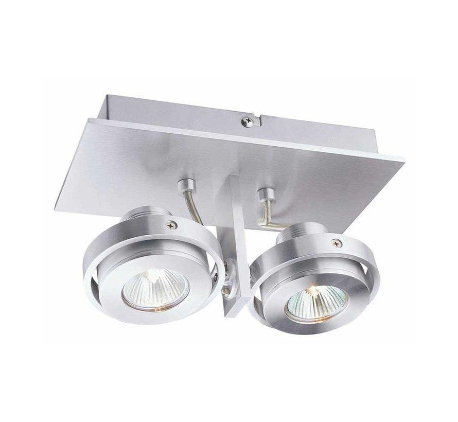 Plafondlamp Meist 2L - Aluminium