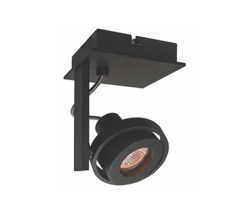 Artdelight Plafondlamp Meist 1L - Zwart