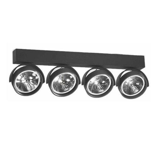 Artdelight Plafondlamp Dutchess 4L - Zwart - Dim to Warm